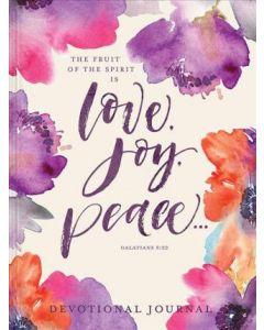 Journal with Devo-Love, Joy, Peace