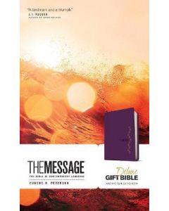 Message Deluxe Gift Bible, Purple
