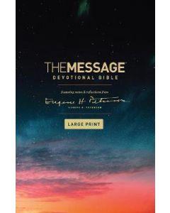 Message Devotional Bib. Large Print-HC