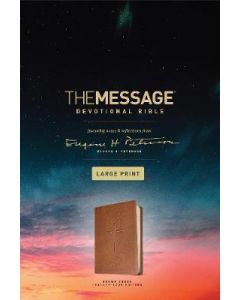 Message Devotional Bib. Large Print LtrLike-Brown