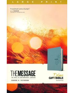 Message Deluxe Gift Bible Large Print LeatherLook-Teal