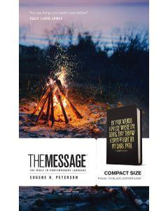 Message Bible Compact LeatherLook-Black