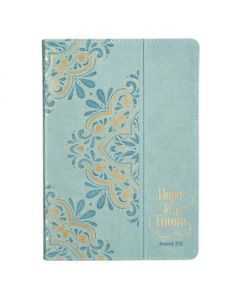 Journal: Faux Leather-Hope & Future Powder Blue