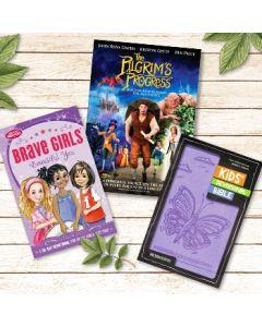 Bundle 2 (NIrV Bible+Brave Girls Devotional+Pilgrim's Progress)