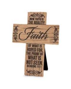 Cross-WoodGrain:Faith, Hebrews 11:1 #11373