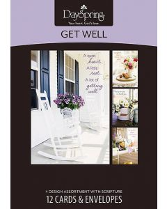 Boxed Cards-Get Well, Large Print (53739)