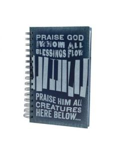 Journal/Spiral-Demin, Praise God, (30601)