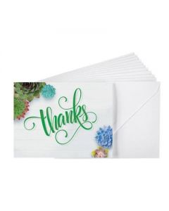 Blank Notes Card/10-Succulents Thank You (60361)