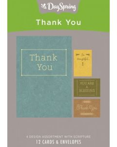Boxed Cards-Thank You, Simply Stated (70098)