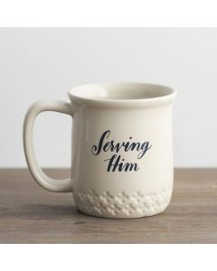 Mug Ceramic:He Shines, Cream, #91408