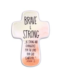 Cross Ceramic-Brave and Strong