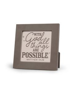 Plaque, With God All Things Are Possible
