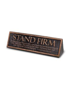 Plaque-Desktop/CastStone: Stand Firm
