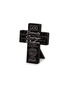 Mini Metal Cross: Serenity Prayer