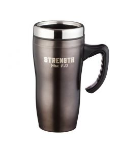 Strength Stainless Steel Travel Mug - Philippians 4:13