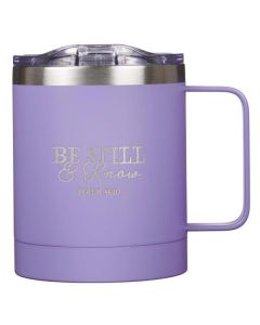 Mug: Camp Stainless Steel, Be Still & Know, Lavender