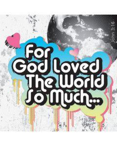John 3:16 Grunge FlipAbout - 20/Pack