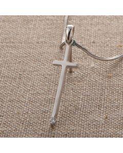 Cross Pendant - DS0368 (White Crystal Cross)