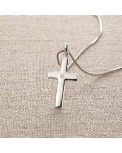 Cross Pendant - DS0369 (Diamond in the Heart)