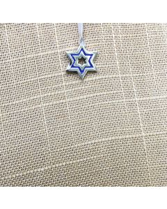 Pendant - DC0002 Star With Sapphire Blue