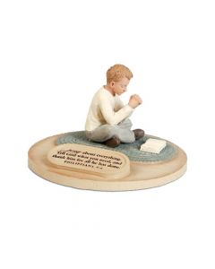 Sculpture-CastStone:Praying Boy