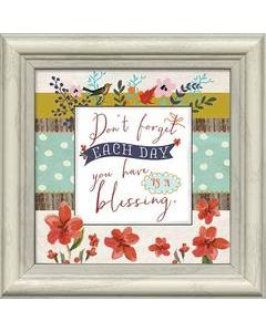 Framed Art-Don't Forget Each Day/Blessing  #21004