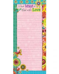 Memo Pad: A Kind Heart Is Filled With Love