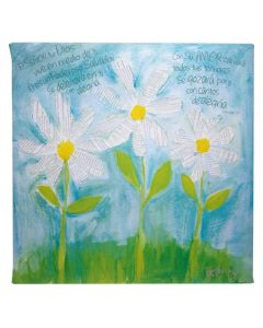 Plaque (Canvas)-Petals of Praise, Daisies (CPL001)