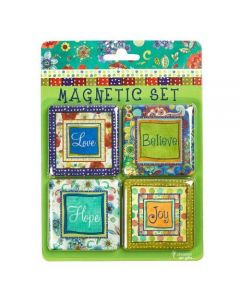 Magnetic Set-Love, Believe, Hope (set/4-MGS016)