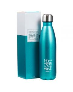 WaterBottle:Stainless Steel-Set your minds,Turquoise (FLS008)