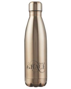 Saved By Grace, Gold, Stainless Steel Water Bottle