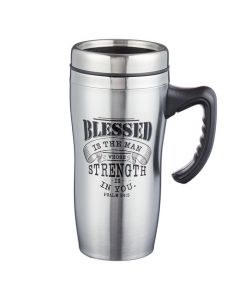Stainless Steel Mug: Blessed Is The Man
