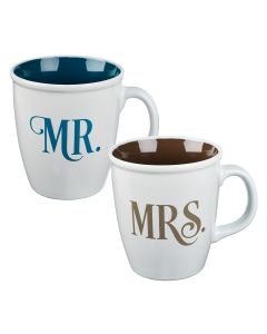 Coffee Mug Set: Mr and Mrs Collection