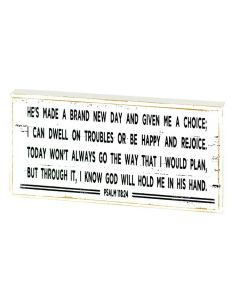 Plaque: He's Made a Brand New Day