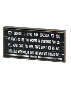 Plaque: God's Designed a Loving Plan