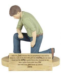 Figure Resin-Man's Prayer By Grace (FIGR-705)