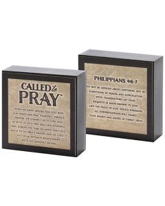 "Plaque:Called To Pray, 3""x3"" (DPLK33-119)"
