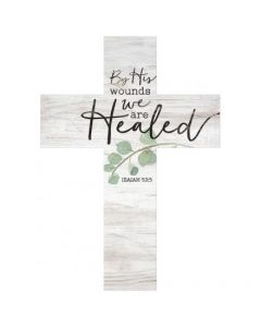 Cross (Wood) - By His Wounds We Are Healed
