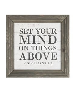 Plaque Frame-Set Your Mind on Things Above