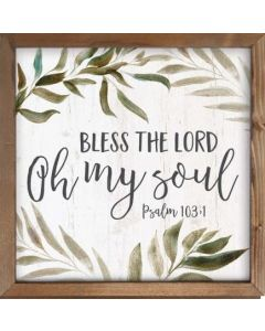Framed Art/Wood-Bless The Lord
