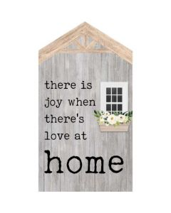 Word Block Tabletop-Joy/Love at Home