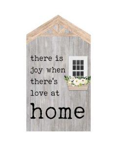 Word Block Tabletop-Joy/Love at Home