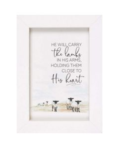 He Will Carry the Lambs, Framed Art