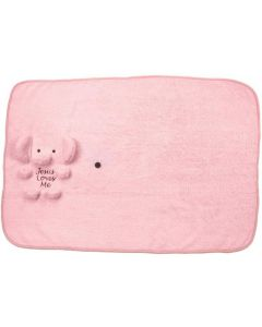 Elephant Blankie Pink with Jesus Loves Me
