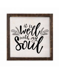 It is Well With my Soul Framed Linen Sign
