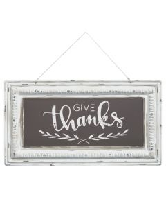 Give Thanks Pressed Tin Sign