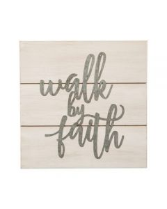Walk By Faith Pallet Sign