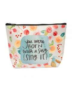Sing It Simple Inspirations Cosmetic Bag