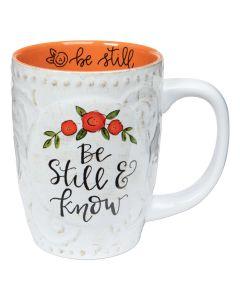 Mug (Sculpted): Be Still & Know #68095