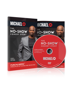 No Show Comedy Event Michael Jr DVD and Booklet